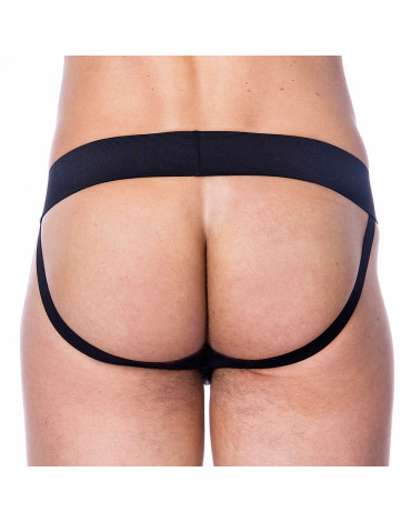 Rimba - Leather Jock StrapBackless String with wide elastic