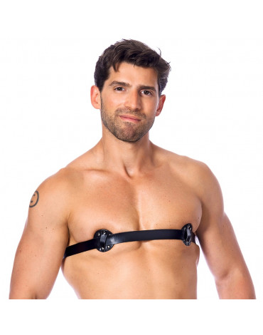 Rimba - Male nipple harness with nails inside