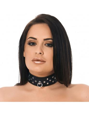 Rimba - Halsband 4 cm. breit verziert mit Nieten
