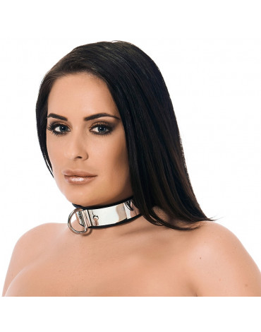 Rimba - Leather collar with metal and padlock
