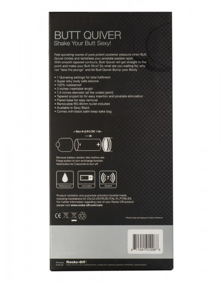 Rocks-Off Butt Quiver 7 Speed