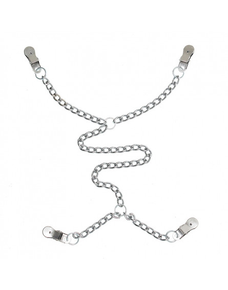Rimba - Nipple to labia clamps with chain