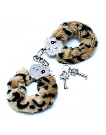 Rimba - Police Handcuffs with Leopard printed Fur