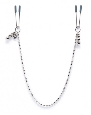 "At My Mercy - FSoG ""Darker"" Beaded Chain Nipple Clamps"
