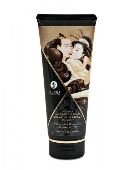 Shunga - Kissable Massage Cream Intoxicating Chocolate 200ml.