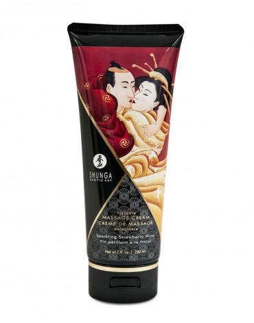Shunga - Kissable Massage Cream Sparkling Strawberry Wine 200ml.