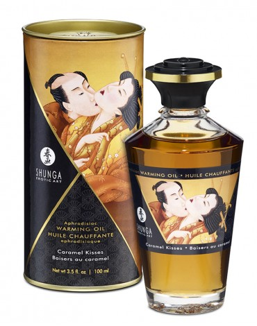Shunga - Aphrodisiac Warming Oil - Caramel kisses 100 ml.