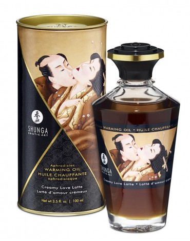 Shunga - Aphrodisiac Warming Oil - Creamy latte 100 ml.