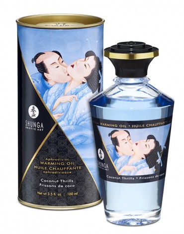 Shunga - Aphrodisiac Warming Oil - Coconut 100 ml