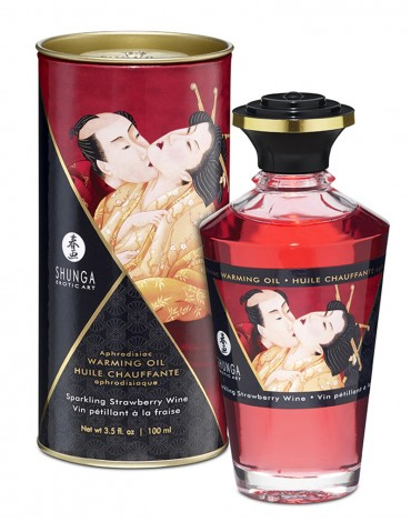 Shunga - Aphrodisiac Warming Oil - Strawberry 100 ml