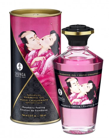Shunga - Aphrodisiac Warming Oil - Himbeere 100 ml.