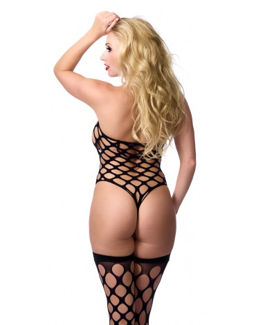 Rimba - Big Hole Body Stocking met Kousen