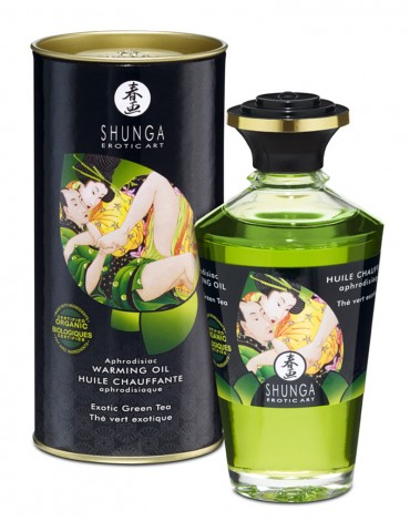 Shunga - Aphrodisiac Warming Oil - Green Tea 100 ml.