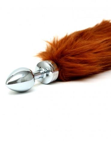 Rimba - Buttplug met bruine staart (unisex)