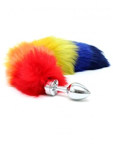 Rimba - Butt plug SMALL with rainbow tail (unisex)