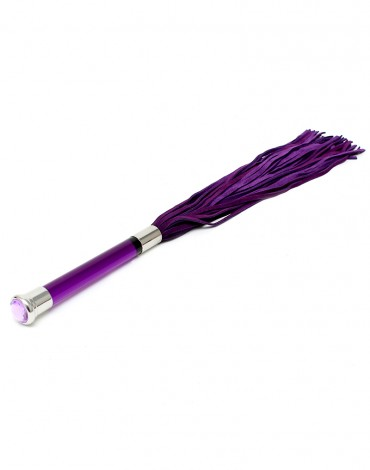 Rimba - Suede Flogger with glass handle and crystal