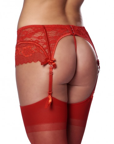 Rimba - Suspenderbelt with g-string and stockings