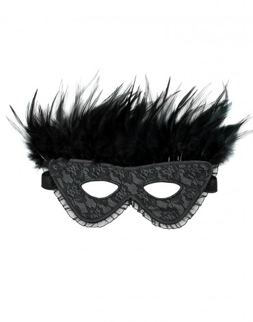 Rimba - Satin Look feather mask