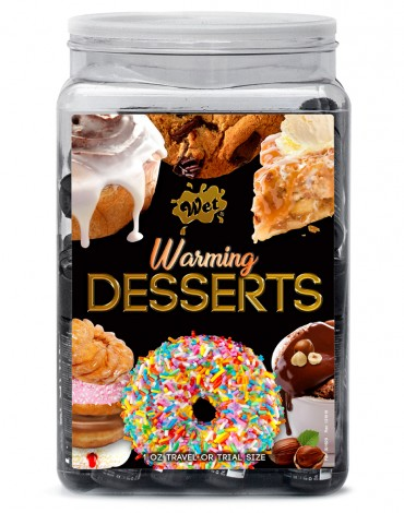 WET Warming Desserts assorted 36 x 30ml. Counter Bowl display