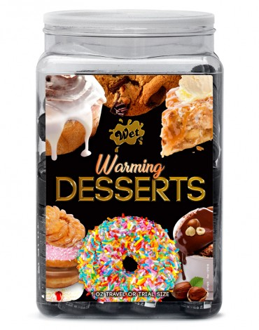 WET Warming Desserts assorted 144 x 10 ml in a Counter Bowl display