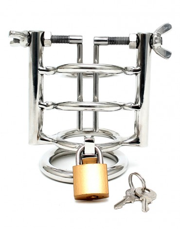 Rimba - Urethral Stretcher with Cockring and padlock