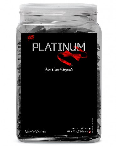 Wet Platinum Silicone 144 x 10ml. in Counter Bowl display