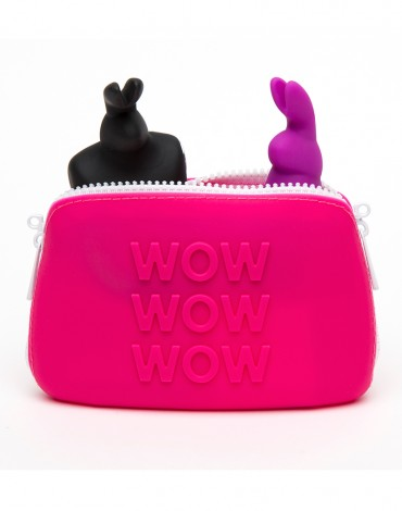 Happy Rabbit Storage Case Small Pink