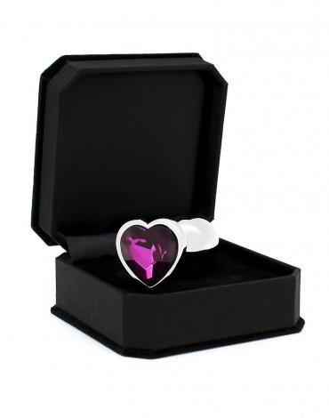 Rimba - Butt plug SMALL with Heartshaped cristal (unisex)