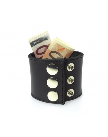 Rimba - Bracelett of 5 cm wide with wallet