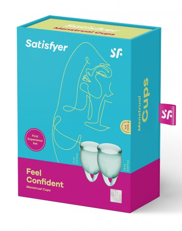 Satisfyer Feel Confident Menstrual Cup (Dark Green)