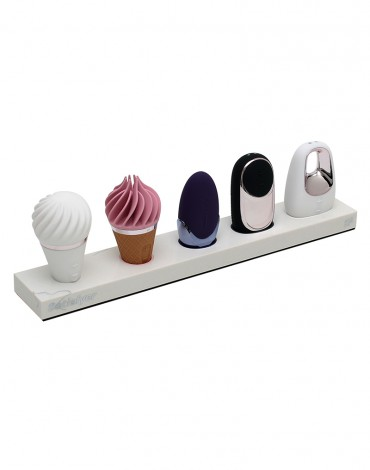 Satisfyer Marble Counter Display with 5 testers