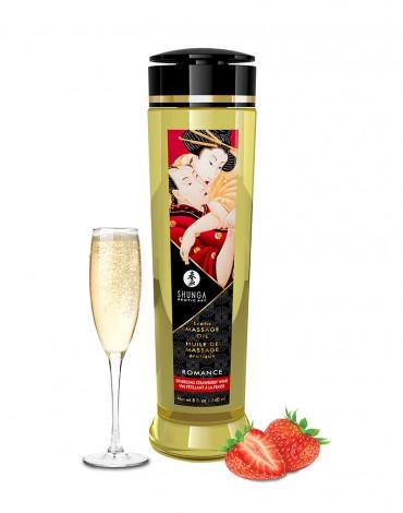 Shunga - Huile de Massage - Romance Sparkling Strawberry - 240 ml