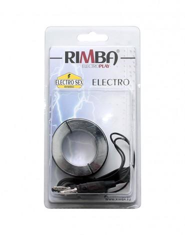 Rimba Electro ballstretcher/cockring solid, bi-polar