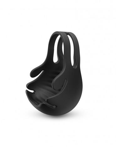 Dorcel - Fun Bag - Vibrating Cockring and Testicle Stimulator - Black - 6072479
