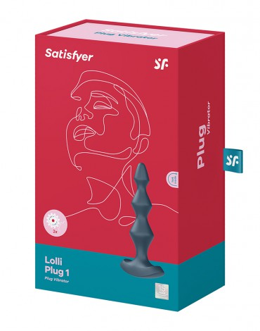 Satisfyer - Lolli Plug 1 - Vibrierender Anal Plug - Schwarz