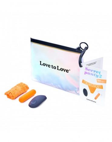 Love to Love - Secret Panty 2 - Panty Vibrator with remote control - Orange