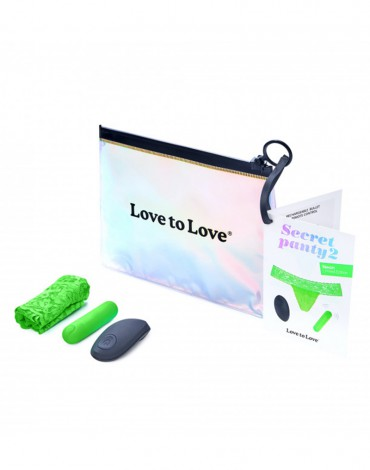 Love to Love - Secret Panty 2 - Panty Vibrator with remote control - Green