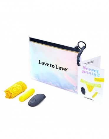 Love to Love - Secret Panty 2 - Panty Vibrator with remote control - Yellow