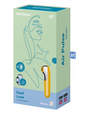 Satisfyer Dual Love Yellow / incl. Bluetooth and App
