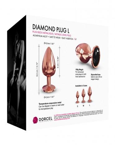 Dorcel - Diamond Plug L - Butt Plug - Rose