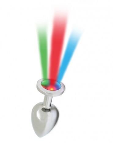 Rimba Toys - Pisa - Butt Plug met LED Licht - Zilver