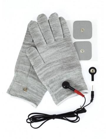 Rimba Electro Sex Handschoenen, uni-polair, inclusief accessoires