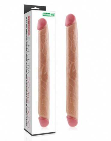 Love Toy - King Size Slim Ultra Double Dildo 45 cm - Nude