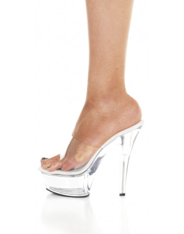 5 cm platform shoe. transparent