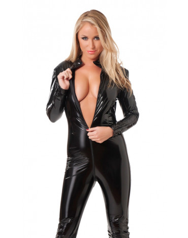 Rimba - Catsuit with long zipper trough the crotch