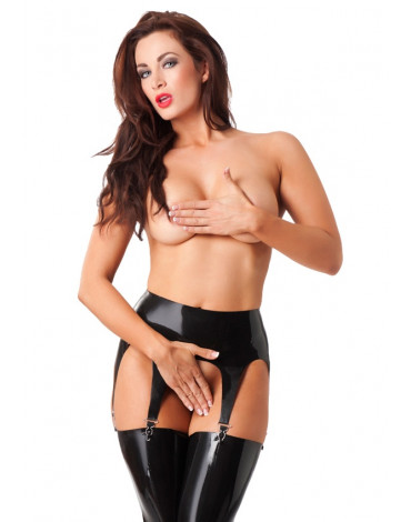 Rimba - Suspender belt with 4 metal clips