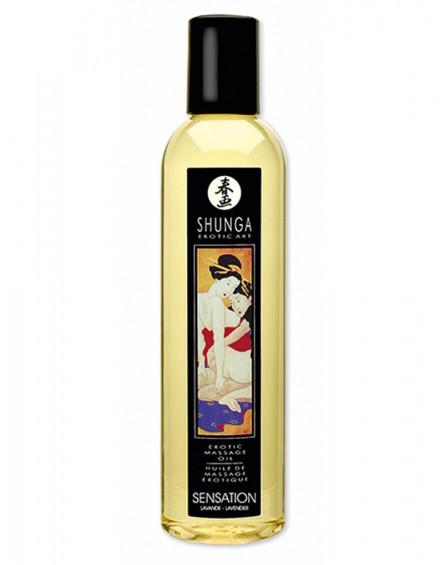 Shunga - Massage Oil - Sensation Lavender 250 ml.