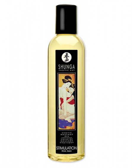 Shunga - Massage Oil - Stimulation Peach 250 ml.