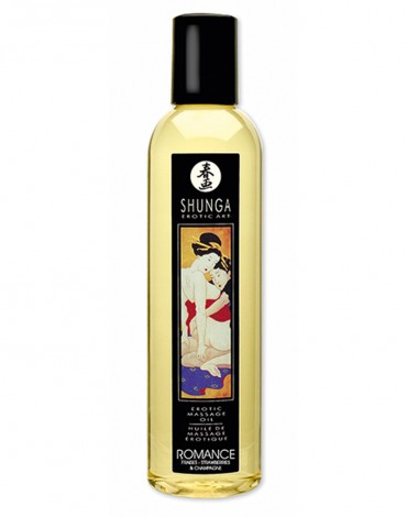 Shunga - Aceite de Masaje - Romance Strawberry Wine 250 ml.