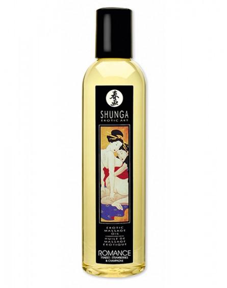 Shunga - Massage Oil - Romance Strawberry Wine 250 ml.